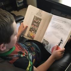 homeschool, first grade, reading, Iggy Peck,