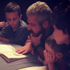 dad, homeschool dad, reading, dad of boys,