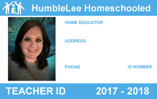 Homeschool, Homeschool ID, ID, badge, Pittsburgh. HumbleLee Homeschooled